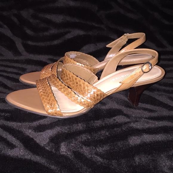23163b8d95 Naturalizer Shoes | Nwot Sz 75m Tan Lthr 25 Heel Sandal | Poshmark